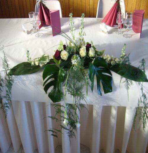 Souvent Art floral - Photos des compositions florales table d'honneur  DI01