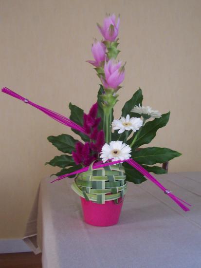 art floral photos des compositions florales bambou caf. Black Bedroom Furniture Sets. Home Design Ideas