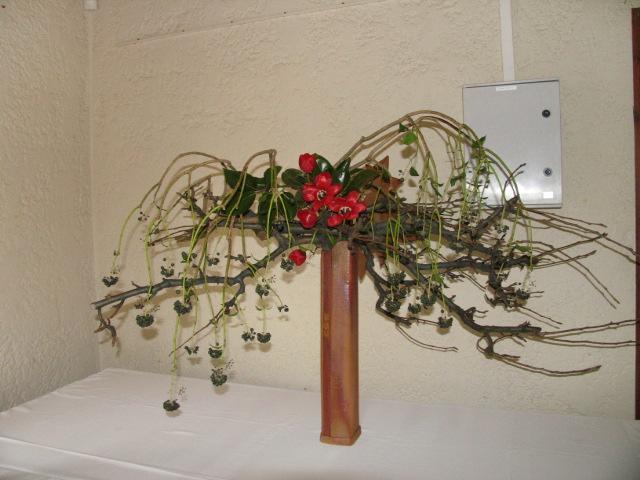 Art floral photos des compositions florales for Amaryllis pour noel