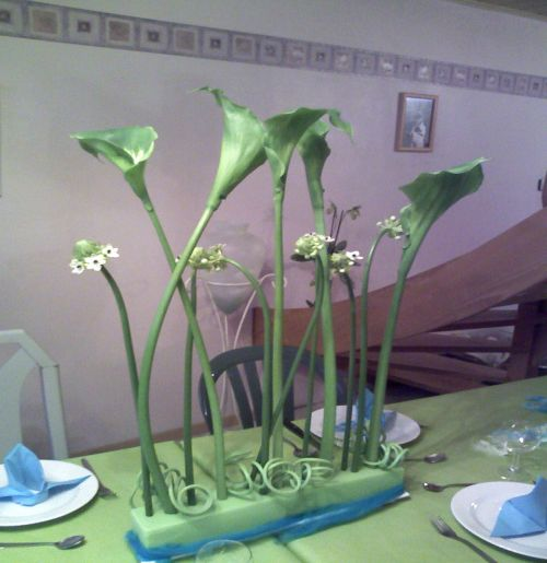 Art floral photos des compositions florales d coration de table conseils en d coration florale - Decoration florale table ...